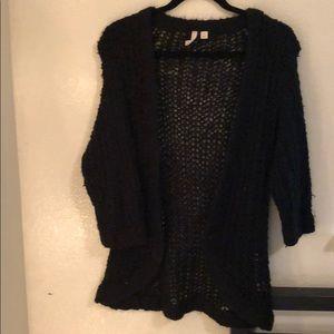 Black fuzzy cardigan